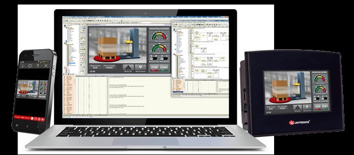 Bộ lập trình PLC + Màn hình HMI Samba Unitronics