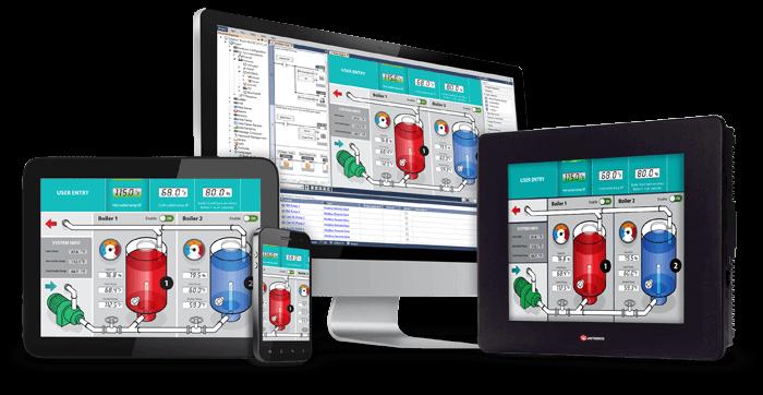 Bộ lập trình PLC + Màn hình HMI UniStream Unitronics