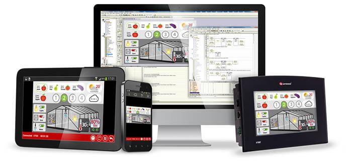 Bộ lập trình PLC + Màn hình HMI Vision Unitronics