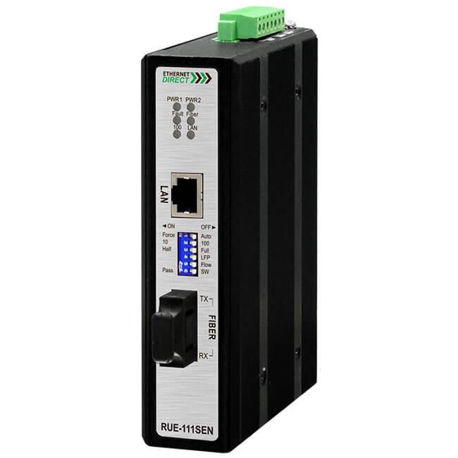 Bộ chuyển đổi quang điện công nghiệp Slim Ethernet to Fiber SC 10/100Base-T(X) sang 100Base-FX Multi-mode RUE-111SENM02