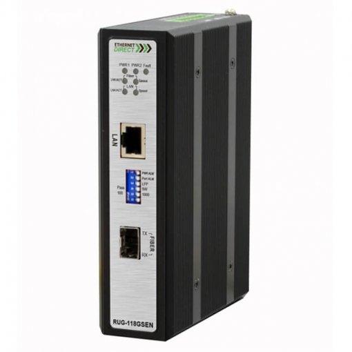 Bộ chuyển đổi quang điện công nghiệp SFP Slim Gigabit Ethernet to Fiber SFP 10/100/1000Base-T(X) sang 100/1000Base RUG-118GSEN