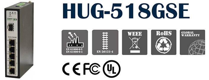switch công nghiệp HUG-518GSE