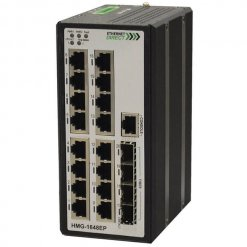 Switch công nghiệp 16-port + 4G SFP Gigabit Managed HMG-1648EP