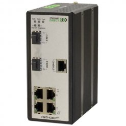 Switch công nghiệp 4-port + 2G SFP Gigabit Managed HMG-428EPT
