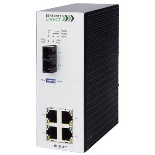 Switch công nghiệp 4-port + 1 100FX Unmanaged Multi-mode HUE-411