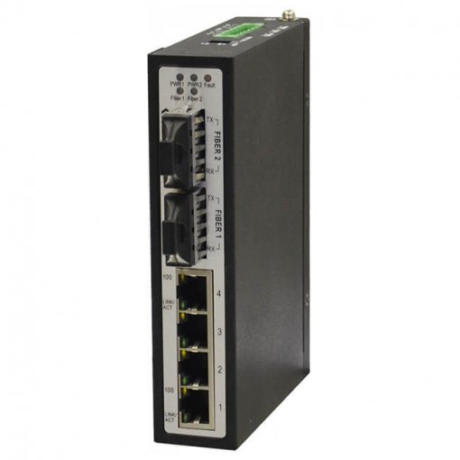 Switch công nghiệp 4-port + 2 100FX Unmanaged Single-mode HUE-424SEN
