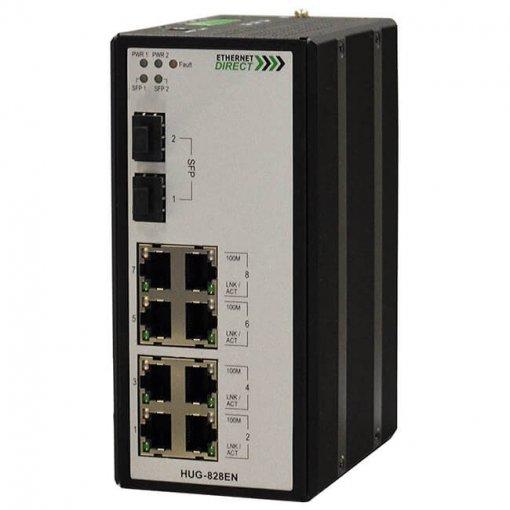 Switch công nghiệp 8-port + 2G SFP Unmanaged Gigabit HUG-828EN