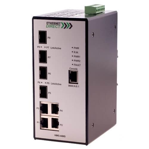 Switch công nghiệp 4-port + 4G SFP Full Gigabit Managed HMG-448G