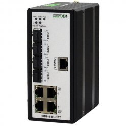 Switch công nghiệp 4-port + 4G SFP Full Gigabit Managed HMG-448GEPT