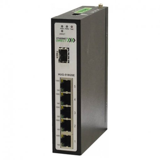 Switch công nghiệp 5-port + 1G SFP Full Gigabit Unmanaged HUG-518GSE