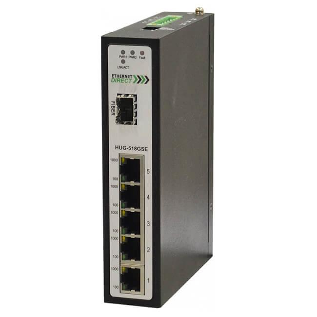 Switch công nghiệp 5-port + 1G SFP Full Gigabit Unmanaged HUG-518GSE