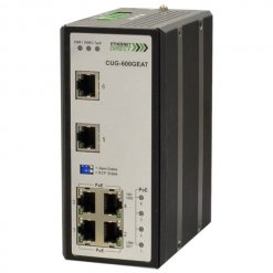 Switch PoE công nghiệp 6-port (4 cổng IEEE 802.3af/at PoE+) Full Gigabit Unmanaged CUG-600GEAT