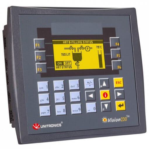 Bộ lập trình PLC tích hợp màn hình HMI 3.2 inch Vision230