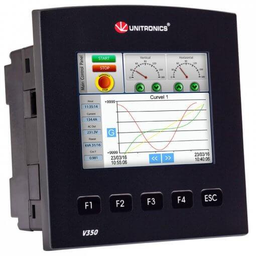Bộ lập trình PLC tích hợp màn hình HMI 3.5 inch Vision350