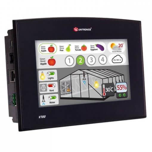 Màn hình cảm ứng HMI 7 inch tích hợp PLC Vision700