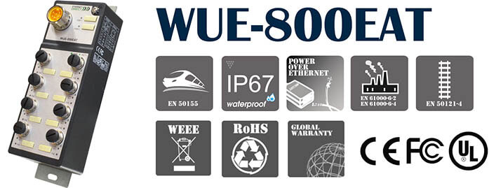 Switch PoE công nghiệp WUE-800EAT