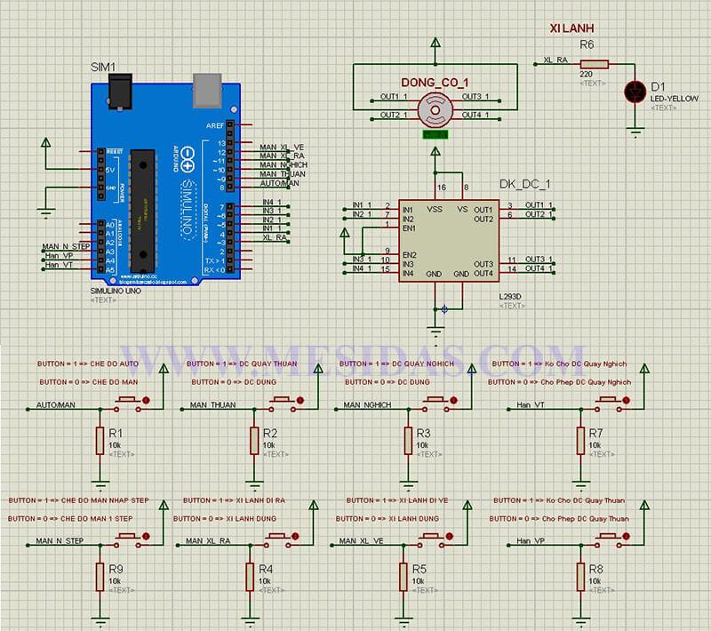 Arduino điều khiển động cơ bước