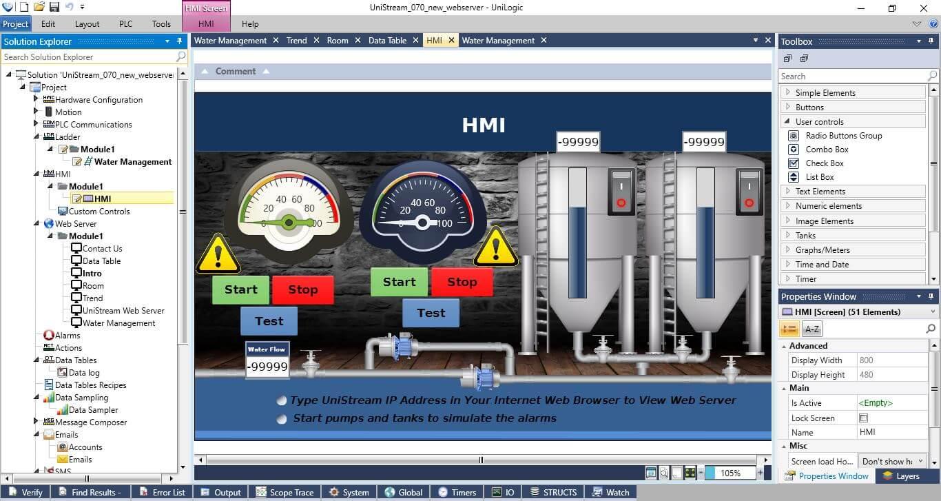 Giao diện phần mềm thiết kế HMI