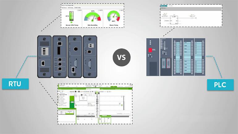 So sánh giữa RTU và PLC