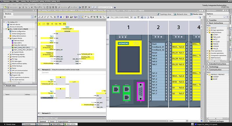 Giao diện phần mềm SIMATIC STEP 7 Safety (TIA Portal)
