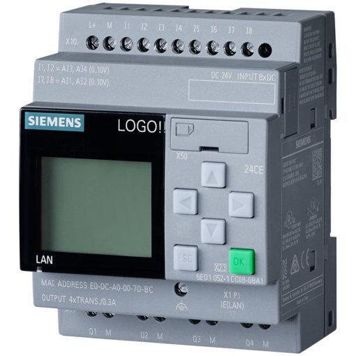 Bộ điều khiển LOGO! 24CE 8DI (4AI)/4DO 6ED1052-1CC08-0BA1
