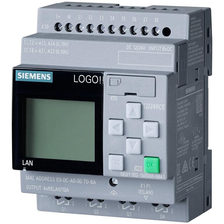 Bộ điều khiển LOGO!12/24RCE 8DI(4AI)/4DO 6ED1052-1MD08-0BA1