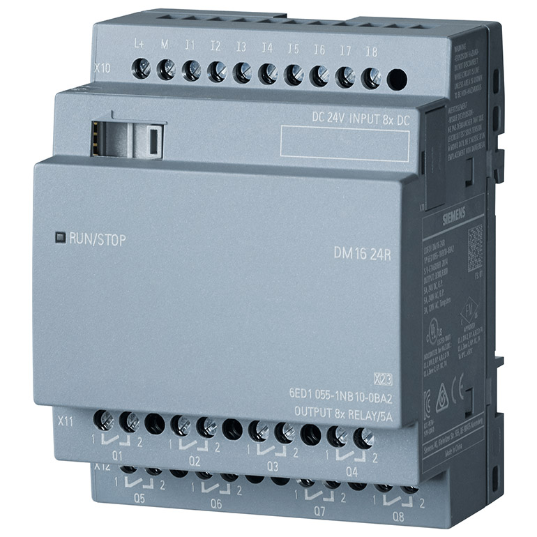 Module mở rộng 8DI/8DO LOGO! DM16 24R 6ED1055-1NB10-0BA2