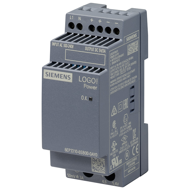 Module nguồn 5VDC/3A LOGO! POWER 6EP3310-6SB00-0AY0