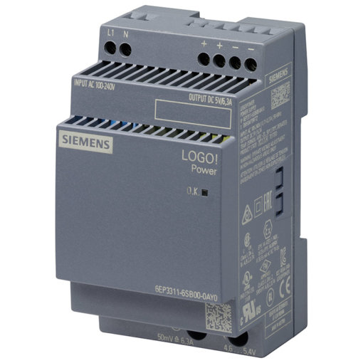 Module nguồn 5VDC/6.3A LOGO! POWER 6EP3311-6SB00-0AY0