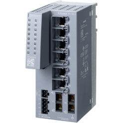 Switch công nghiệp 6 cổng RJ45 10/100 Mbit/s + 2 cổng SC 100 Mbit/s Multi-mode SCALANCE XC106-2 Unmanaged & Layer 2 6GK5106-2BD00-2AC2