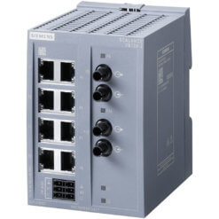 Switch công nghiệp 8 cổng RJ45 10/100 Mbit/s + 2 cổng ST 100 Mbit/s Multi-mode SCALANCE XB108-2 Unmanaged & Layer 2 6GK5108-2BB00-2AB2