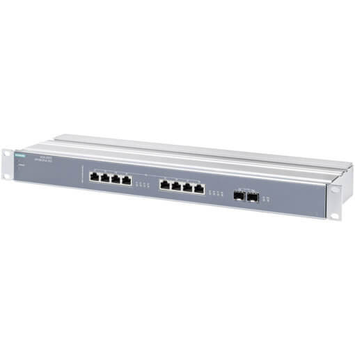 Switch công nghiệp 8 cổng PoE RJ45 1GE + 2 cổng SFP 10GE SCALANCE XR108-2PoE WG Unmanaged & Layer 2 6GK5108-2QS00-3AR3