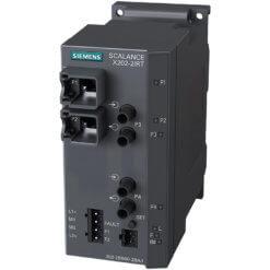 Switch công nghiệp 2 cổng RJ45 10/100 Mbit/s + 2 cổng BFOC 100 Mbit/s Multimode SCALANCE X202-2IRT Managed & Layer 2 6GK5202-2BB00-2BA3
