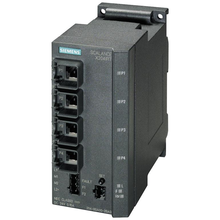 Switch công nghiệp 4 cổng RJ45 10/100 Mbit/s SCALANCE X204IRT Managed & Layer 2 6GK5204-0BA00-2BA3