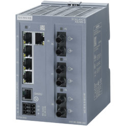Switch công nghiệp 5 cổng RJ45 10/100 Mbps + 3 cổng MM FO ST + 1 cổng quản lý (PROFINET) SCALANCE XB205-3 Managed & Layer 2 6GK5205-3BB00-2AB2