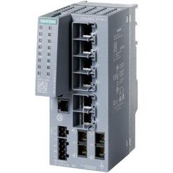 Switch công nghiệp 6 cổng RJ45 10/100 Mbps + 2 cổng SC 100 Mbps + 1 cổng quản lý SCALANCE XC206-2 Managed & Layer 2 6GK5206-2BD00-2AC2