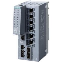 Switch công nghiệp 6 cổng RJ45 10/100/1000 Mbps + 2 cổng SFP 1000 Mbps + 1 cổng quản lý SCALANCE XC206-2SFP G Managed & Layer 2 6GK5206-2GS00-2AC2