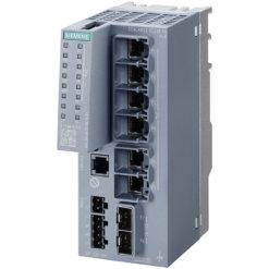 Switch công nghiệp 6 cổng PoE RJ45 10/100/1000 Mbps + 2 cổng SFP+ 1000/10000 Mbps + 1 cổng quản lý SCALANCE XC206-2G PoE Managed & Layer 2 6GK5206-2RS00-5AC2