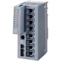 Switch công nghiệp 8 cổng RJ45 10/100/1000 Mbps (6 cổng PoE) + 1 cổng quản lý SCALANCE XC208G PoE Managed & Layer 2 6GK5208-0RA00-5AC2