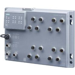 Switch công nghiệp 12 cổng M12 10/100 Mbps + 4 cổng M12 10/100/1000 Mbps, IP65, EN 50155, EN45545 SCALANCE XP216PoE EEC Managed & Layer 2 6GK5216-0UA00-5ES6