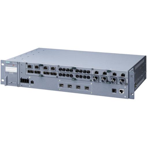 Switch công nghiệp 4 cổng SFP+ 1000/10000 Mbit/s + 6 cổng 100/1000 Mbit/s (mô-đun, điện, quang, PoE) SCALANCE XR528-6M Managed & Layer 3 6GK5528-0AA00-2AR2