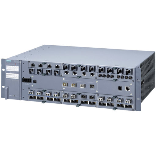 Switch công nghiệp 4 cổng SFP+ 1000/10000 Mbit/s + 12 cổng 100/1000 Mbit/s (mô-đun, điện, quang, PoE) SCALANCE XR552-12M Managed & Layer 3 6GK5552-0AR00-2AR2