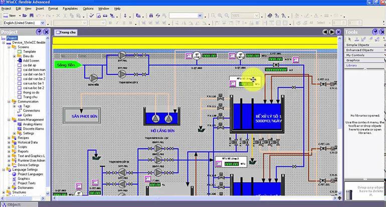 Giao Dien Thiet Ke SIMATIC WinCC Flexible Engineering