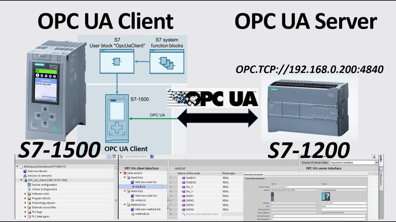 OPC UA Server/Client S7-1200/S7-1500