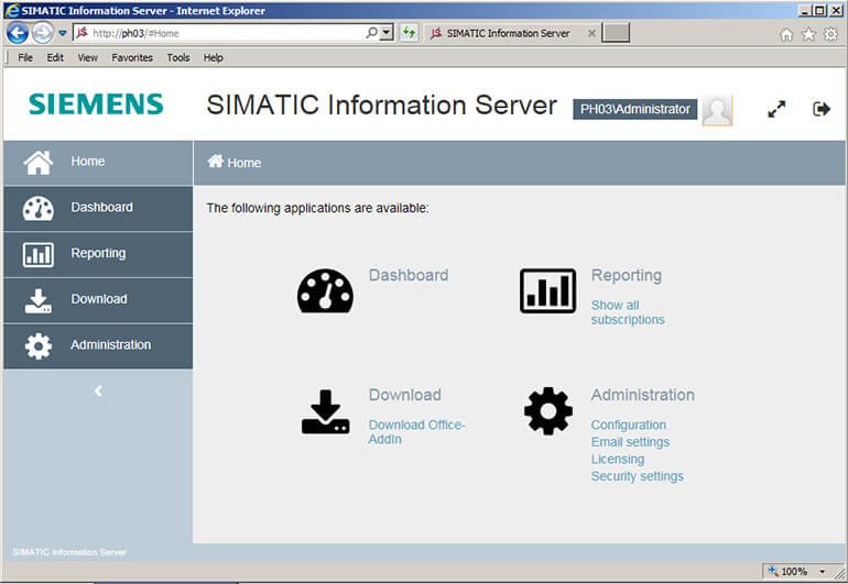 Giao Diện SIMATIC Information Server